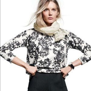 Jcrew | floral crew sweatshirt • small